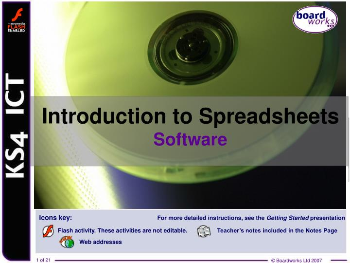 introduction to spreadsheets software n.
