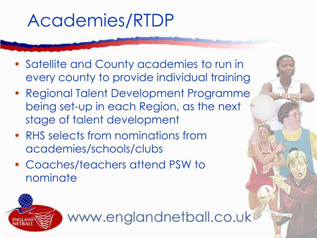 Academies/RTDP