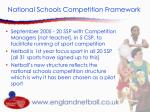 national schools competition framework