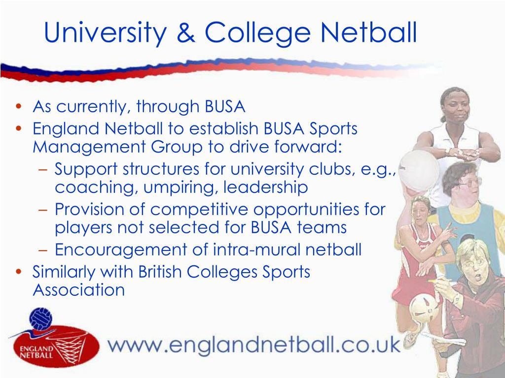 University & College Netball