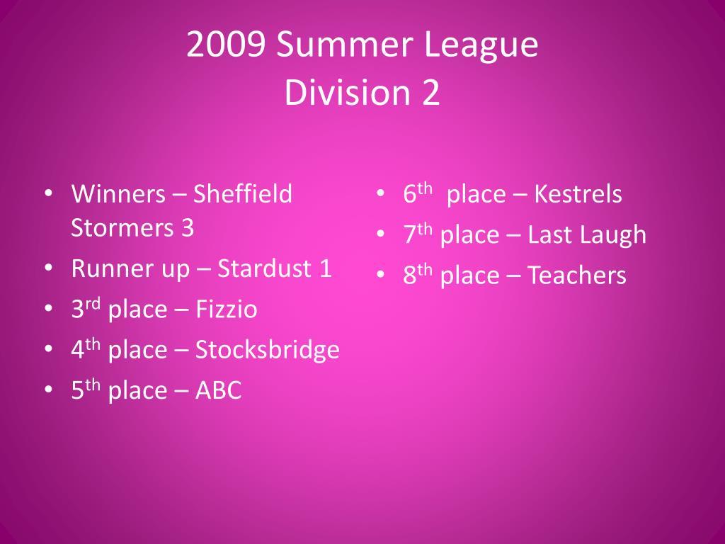 2009 Summer League