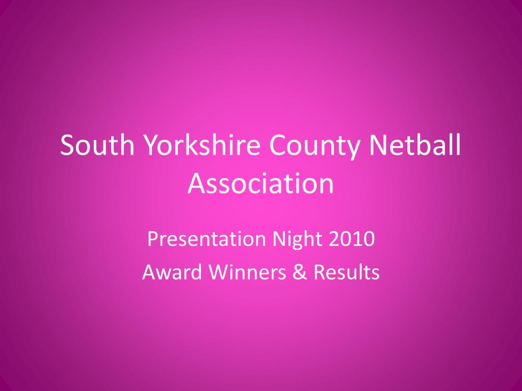 south yorkshire county netball association l.