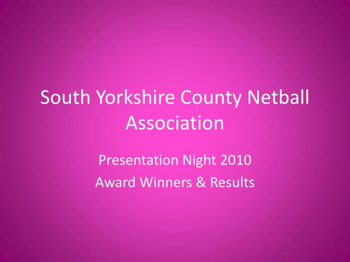 south yorkshire county netball association n.