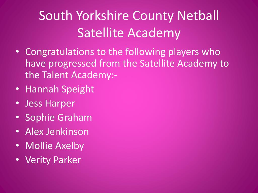 South Yorkshire County Netball