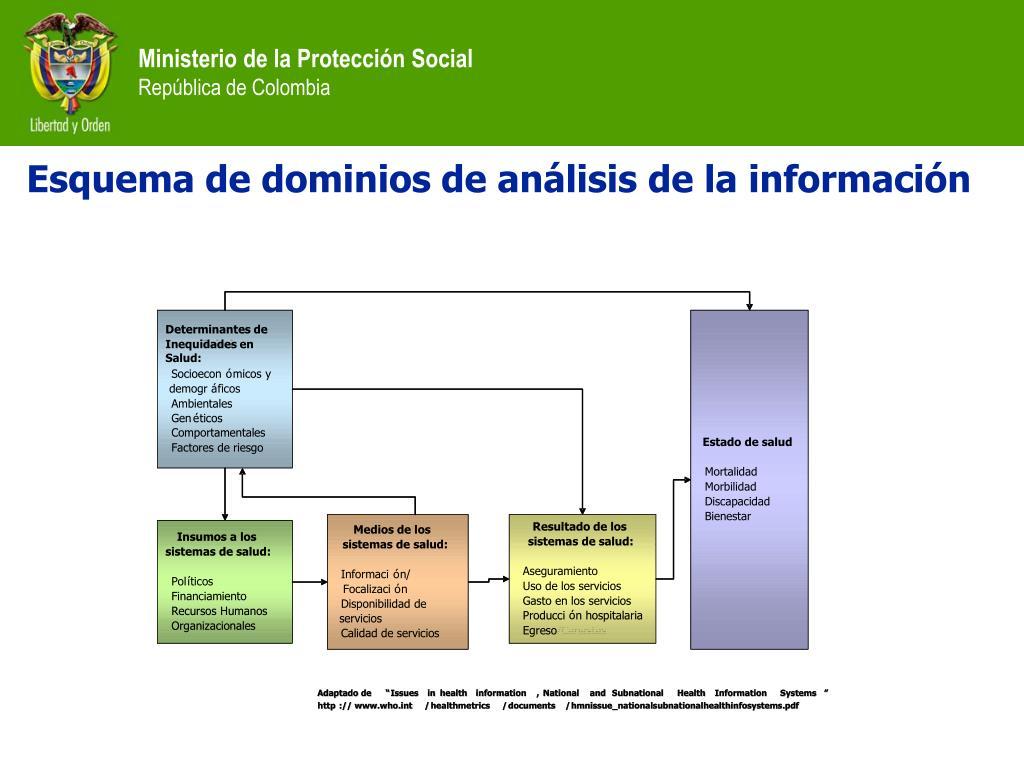 Esquema de dominios de análisis de la información