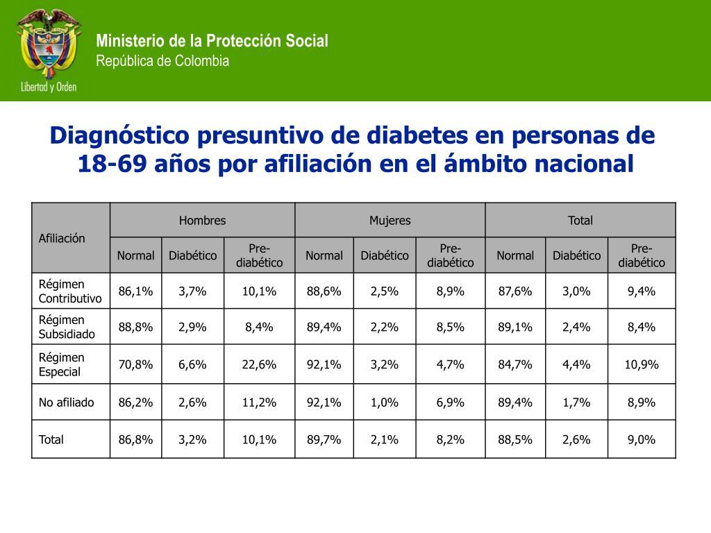 Diagnóstico presuntivo de diabetes