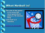 what netball is