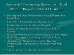 successful partnering resources deaf mentor project ski hi institute