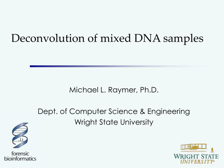 deconvolution of mixed dna samples n.