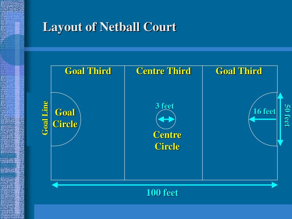 Layout of Netball Court