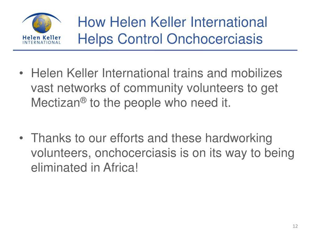 How Helen Keller International Helps Control Onchocerciasis