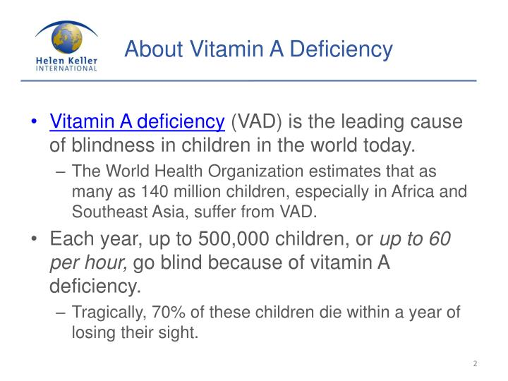 About Vitamin A Deficiency
