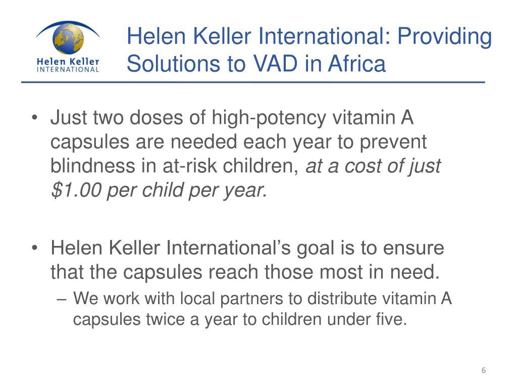 Helen Keller International: Providing Solutions to VAD in Africa