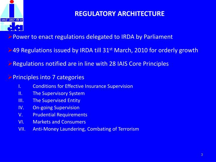 Regulatory architecture