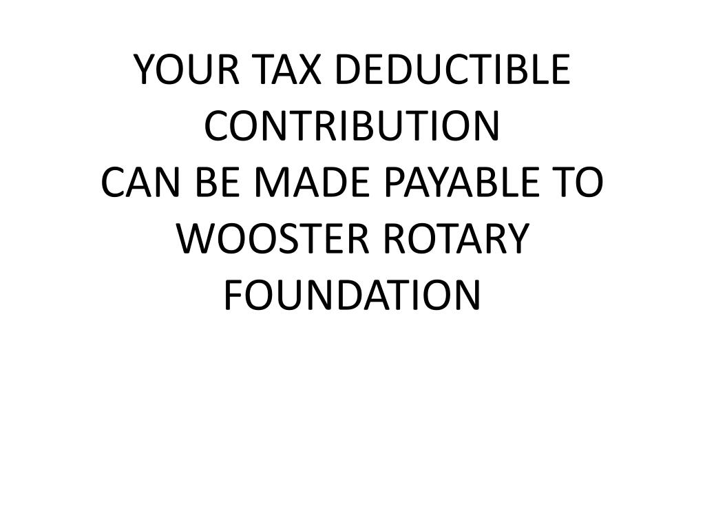 YOUR TAX DEDUCTIBLE
