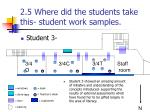 2 5 where did the students take this student work samples