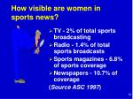 how visible are women in sports news
