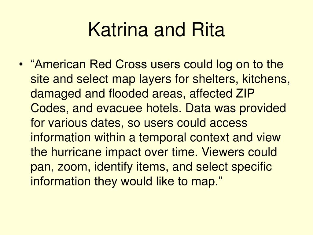 Katrina and Rita