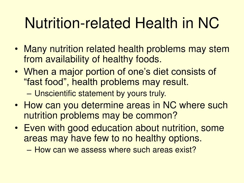 Nutrition-related Health in NC