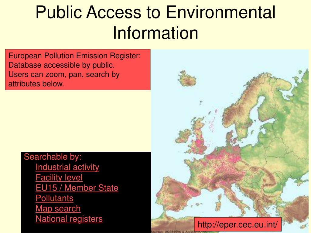 Public Access to Environmental Information