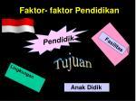 faktor faktor pendidikan