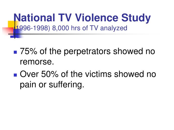 an analysis of the television violence 3, december an analysis of the influence of television violence on children 2003 ings, the 1969 national commission on cultivation theory examines the long-term.