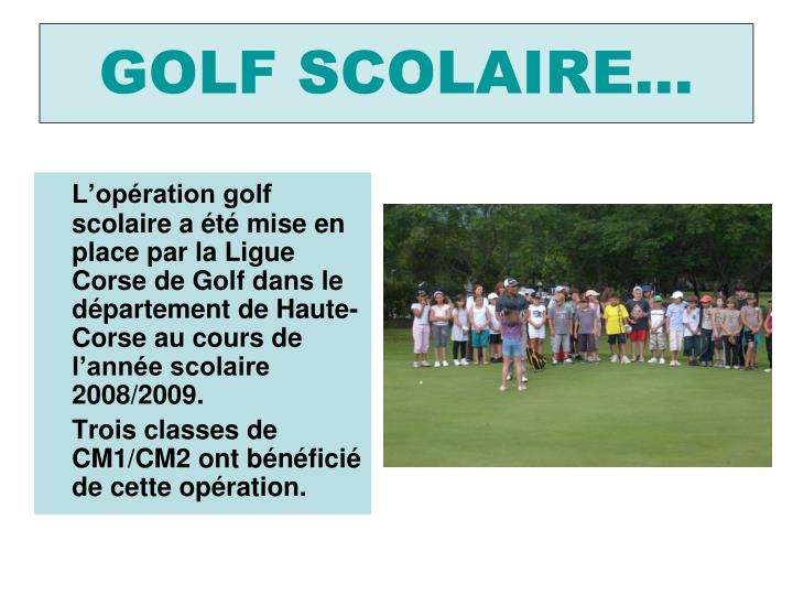 golf scolaire n.