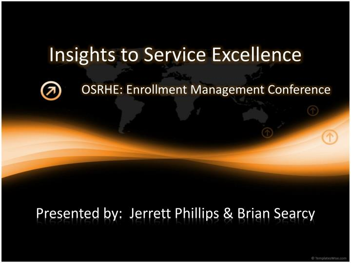 insights to service excellence n.