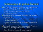 instrumentos de gestion forestal