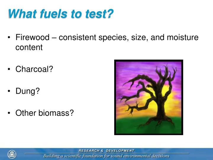 What fuels to test?