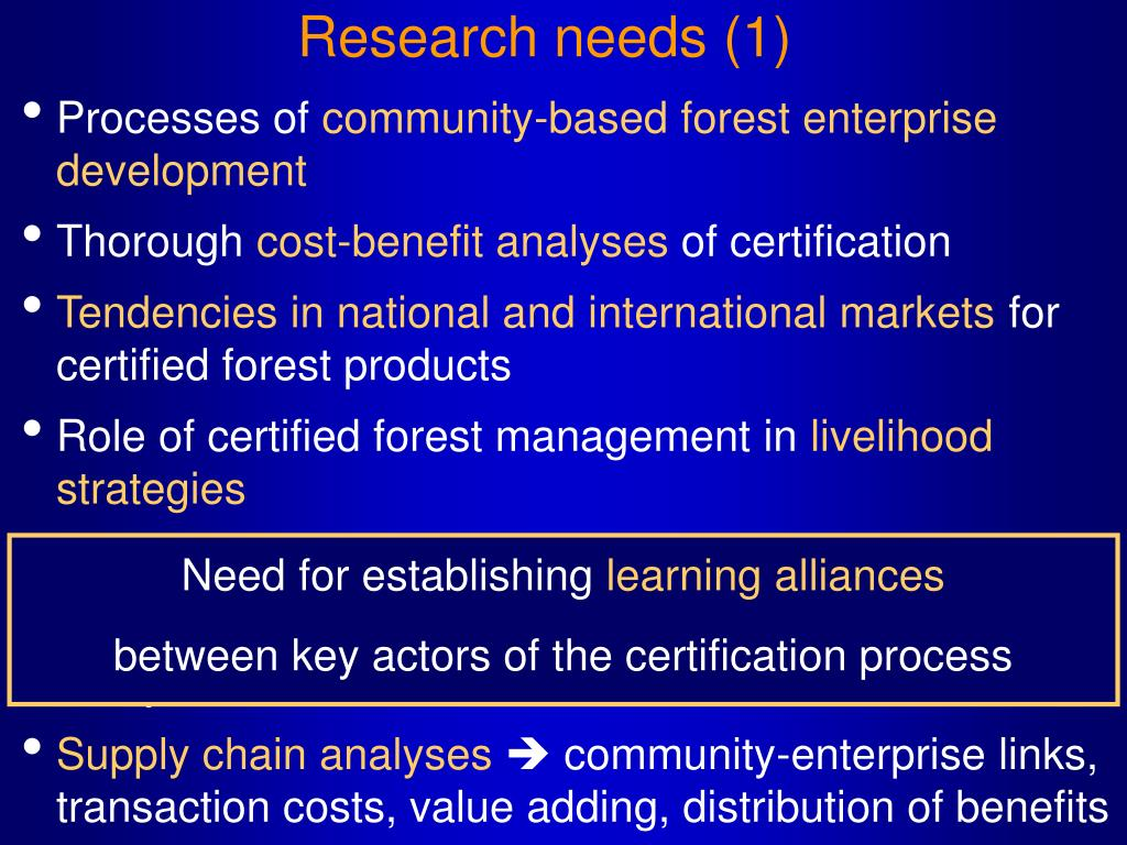 Research needs (1)