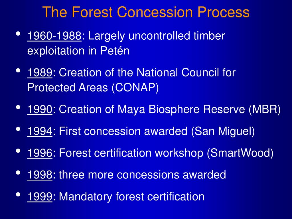 The Forest Concession Process