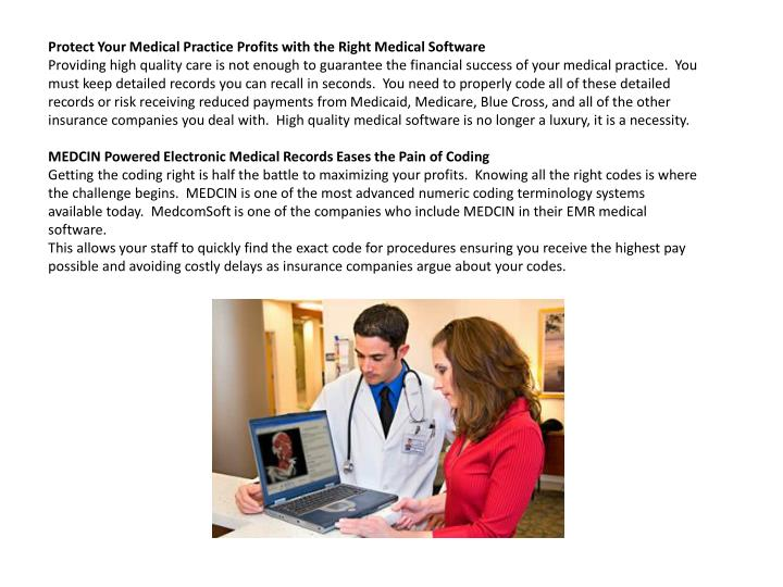 Protect Your Medical Practice Profits with the Right Medical Software