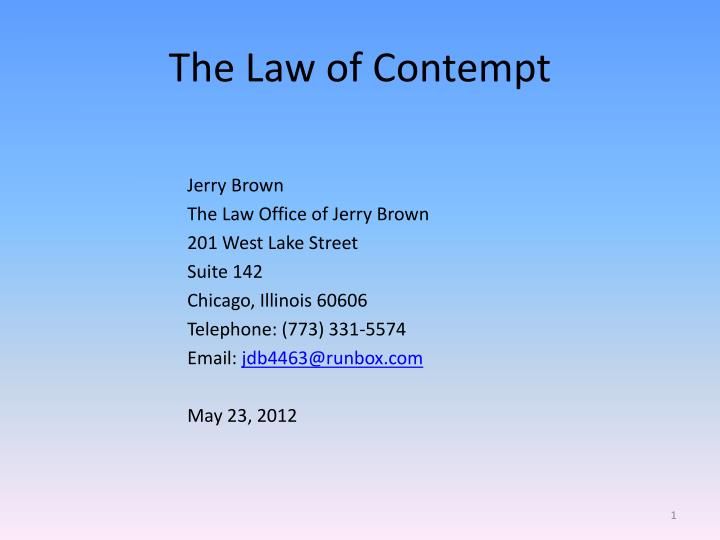 the law of contempt n.