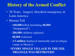 history of the armed conflict