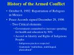 history of the armed conflict12