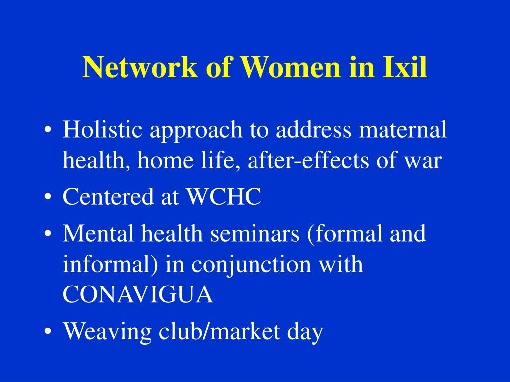 Network of Women in Ixil