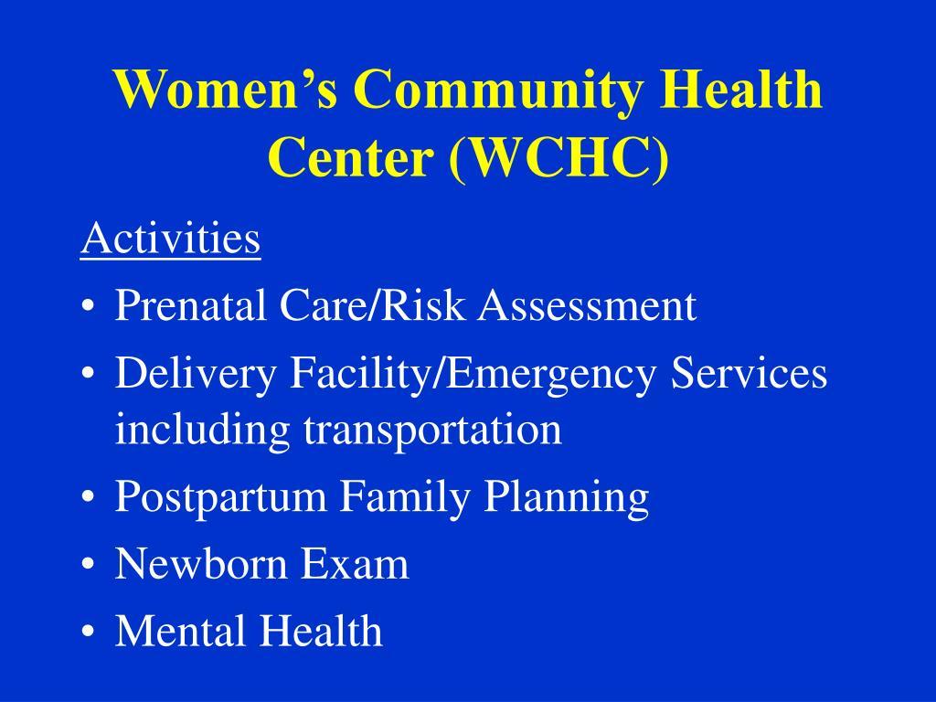 Women's Community Health Center (WCHC)