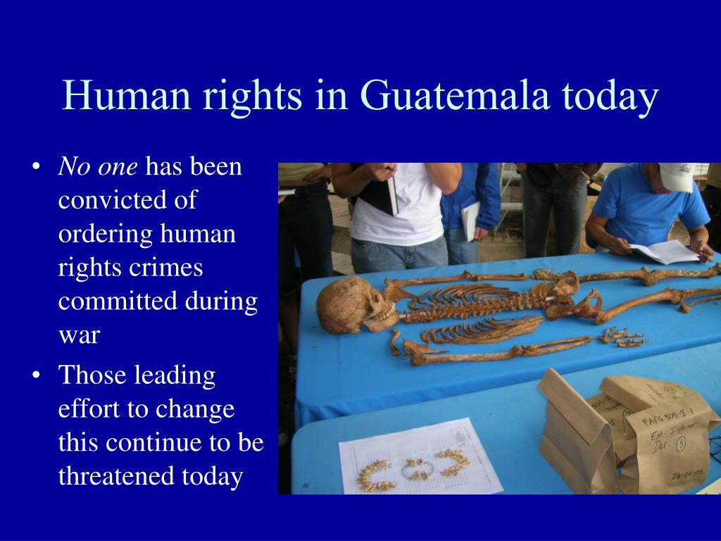 Human rights in Guatemala today
