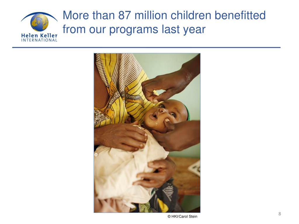 More than 87 million children benefitted from our programs last year