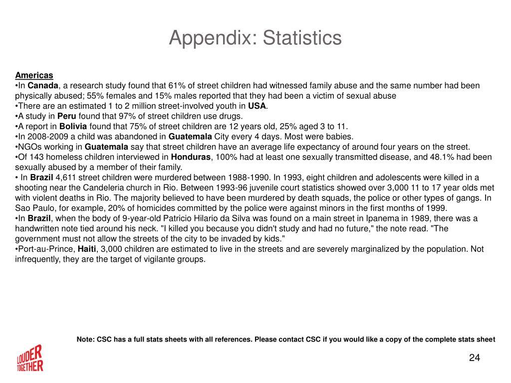 Appendix: Statistics