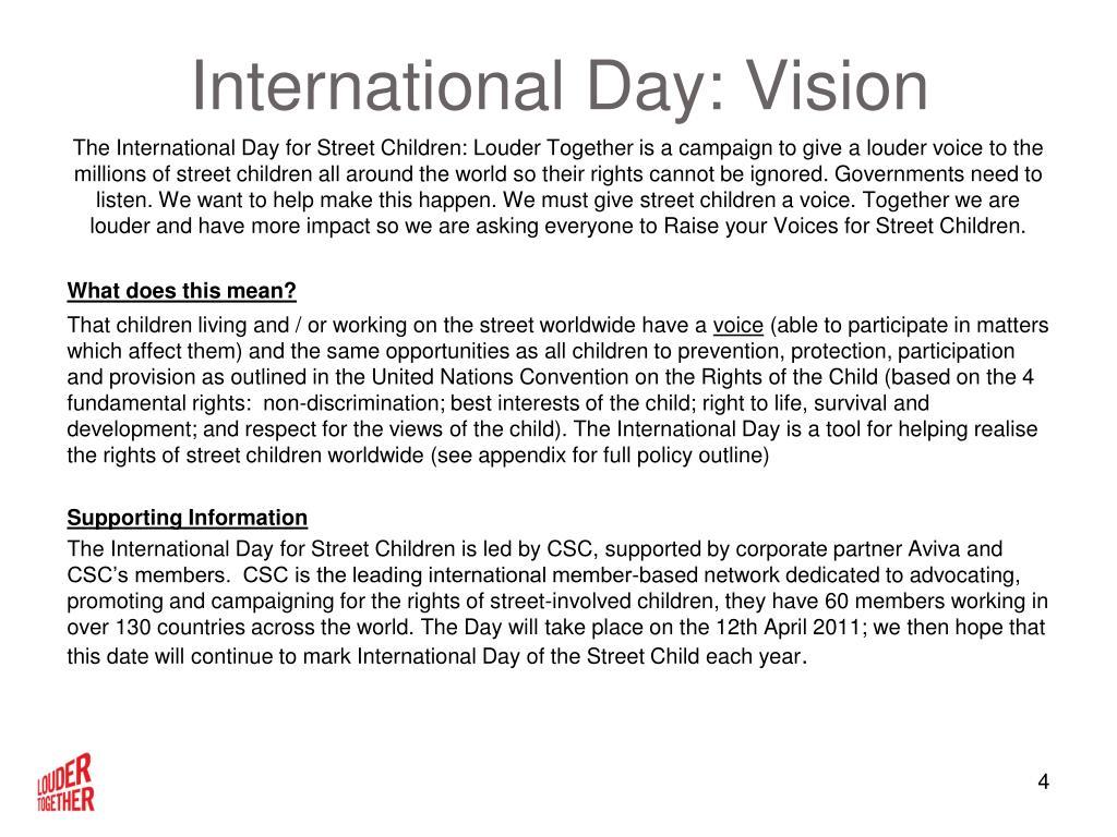 International Day: Vision