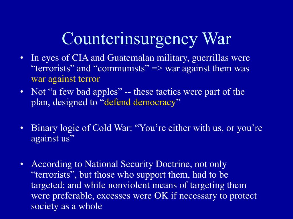 Counterinsurgency War