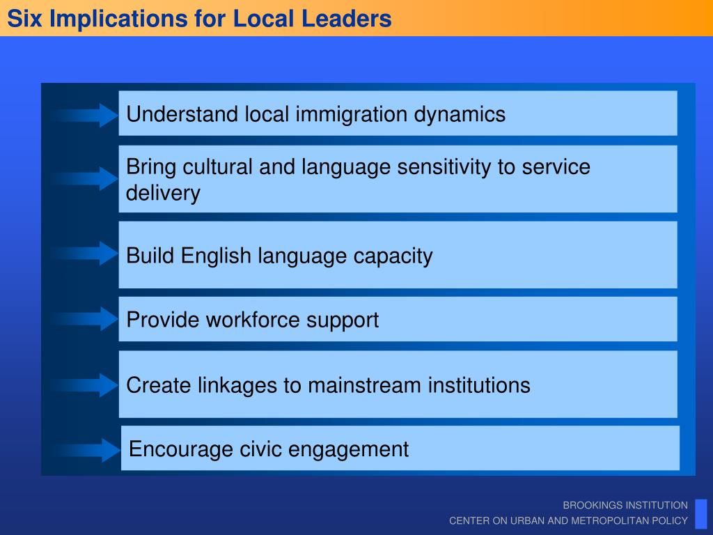 Six Implications for Local Leaders