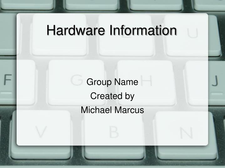 group name created by michael marcus n.
