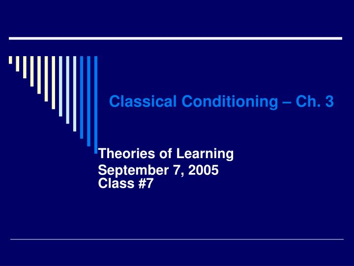 classical conditioning ch 3 n.