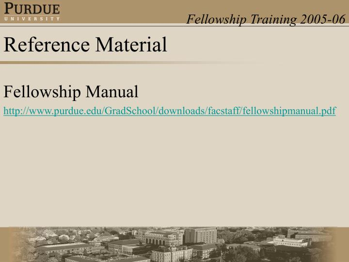 Fellowship Manual