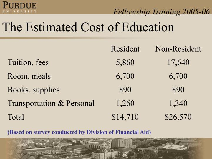 The Estimated Cost of Education