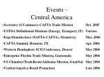 events central america