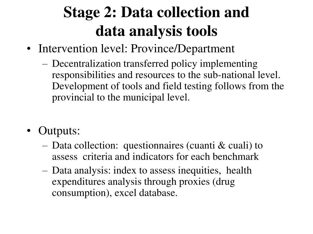 Stage 2: Data collection and